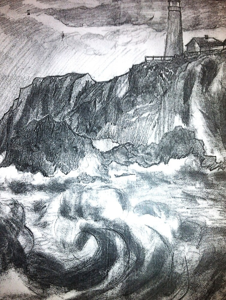 LIGHTHOUSE IN THE STORM by LOUISE TORRES