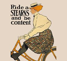 Ride A Stearns Bicycle and Be Content Womens Fitted T-Shirt