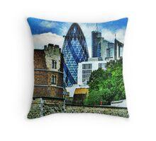 The London Gherkin  Throw Pillow