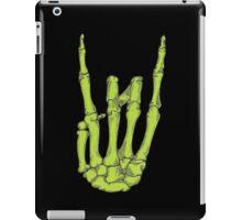 Rock On Skeleton Hand - Green iPad Case/Skin