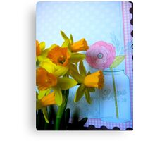 Daffodils and a Jar Canvas Print
