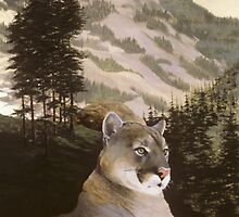 Big Montana Mountain Lion by Chris J Worden Gregg