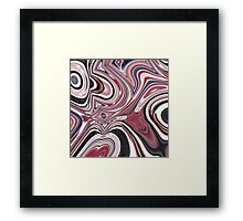 abstract UK fashion red white blue marble swirls Framed Print