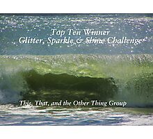 Top Ten Banner - Glitter, Sparkle & Shine Photographic Print
