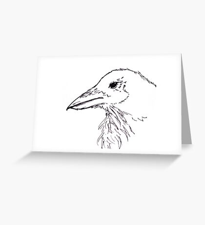 Simplistic Raven  Greeting Card