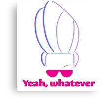 Johnny Bravo - Yeah, whatever Pink and blue Canvas Print