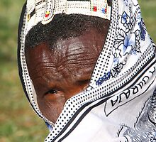 Elderly Maasai Woman by Carole-Anne