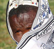 Elderly Maasai Woman by Carole-Anne