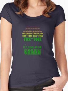 Tick Tock: It's Time to Go Green Women's Fitted Scoop T-Shirt