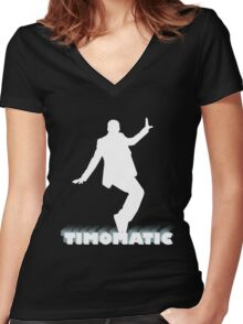 Timomatic Women's Fitted V-Neck T-Shirt