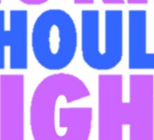 BECAUSE NO KID SHOULD FIGHT ALONE BLUE/PURPLE Sticker