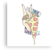TRUE LOVE PIZZA Canvas Print