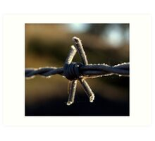 frosted wire 2 Art Print