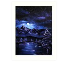 'Full Moon's Night' Oil Panting Art Print