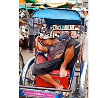 Sleeping Cyclo Man Photographic Print