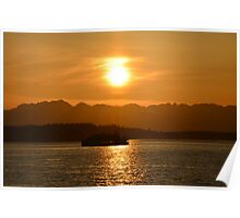 Sunset Crossing Poster