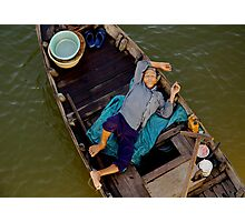 Sleeping Boatman Photographic Print