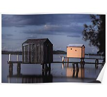 boat sheds on the maroochy river  Poster