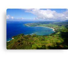 Aerial View of Hanalei Bay Canvas Print