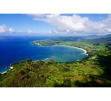 Aerial View of Hanalei Bay Photographic Print
