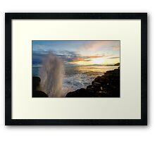 Haena Water Spout Framed Print