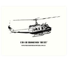 Huey Helicopter Graphic Art Print