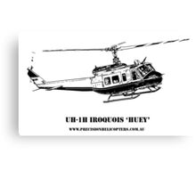 Huey Helicopter Graphic Canvas Print
