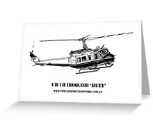 Huey Helicopter Graphic Greeting Card