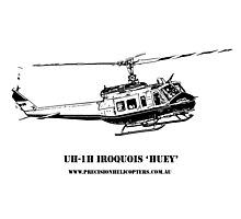 Huey Helicopter Graphic Photographic Print
