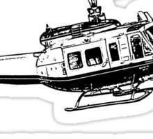 Huey Helicopter Graphic Sticker
