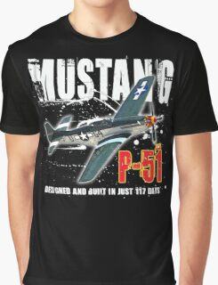 P-51 MUSTANG Graphic T-Shirt