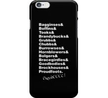 My Dearest Hobbits iPhone Case/Skin