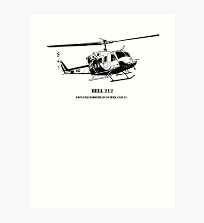 Bell 212 Helicopter  Art Print