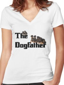 The Dog Father - Rottweiler Litter Women's Fitted V-Neck T-Shirt