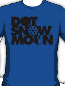 Dot Snow Moon (Black Text) T-Shirt