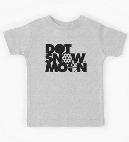 Dot Snow Moon (Black Text) Kids Tee