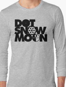 Dot Snow Moon (Black Text) Long Sleeve T-Shirt