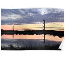 Humber Bridge Dawn Poster