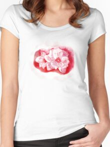 Red Flower     TEESHIRT/BABY GROW/STICKER Women's Fitted Scoop T-Shirt