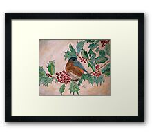 Dawn In The Holly Tree Framed Print