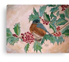 Dawn In The Holly Tree Canvas Print