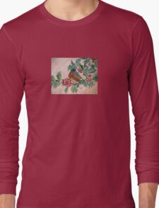 Dawn In The Holly Tree Long Sleeve T-Shirt