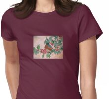 Dawn In The Holly Tree Womens Fitted T-Shirt