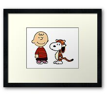 calvin and hobbes meets peanuts Framed Print