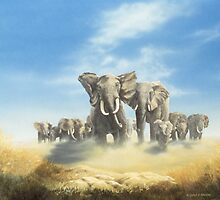Serengeti Family by Chris J Worden Gregg