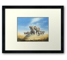 Serengeti Family Framed Print