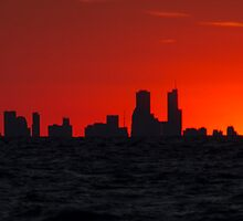Chicago at Sunset by RCRimagery