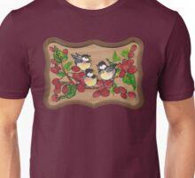 chickadees and berries Unisex T-Shirt