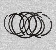 Cool Grunge Crazy Circles Kids Tee