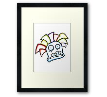 Retro Tiki Mask Framed Print
